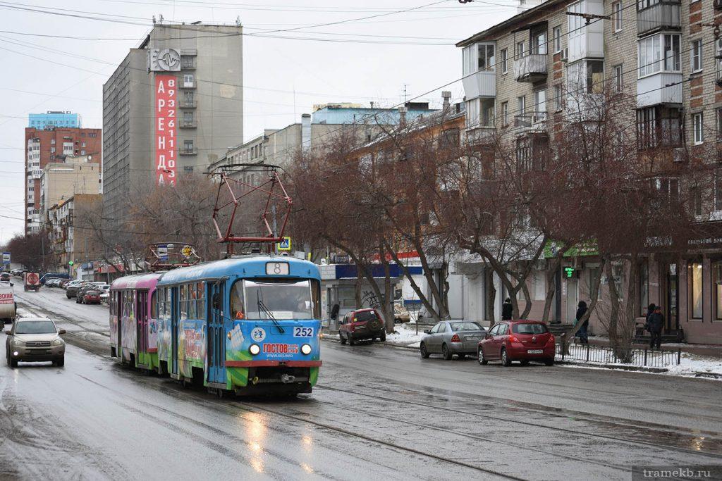 В Екатеринбурге спустя 6 лет снова стали выпускать двухвагонные трамваи по выходным дням, но пока только на маршрут № 8.