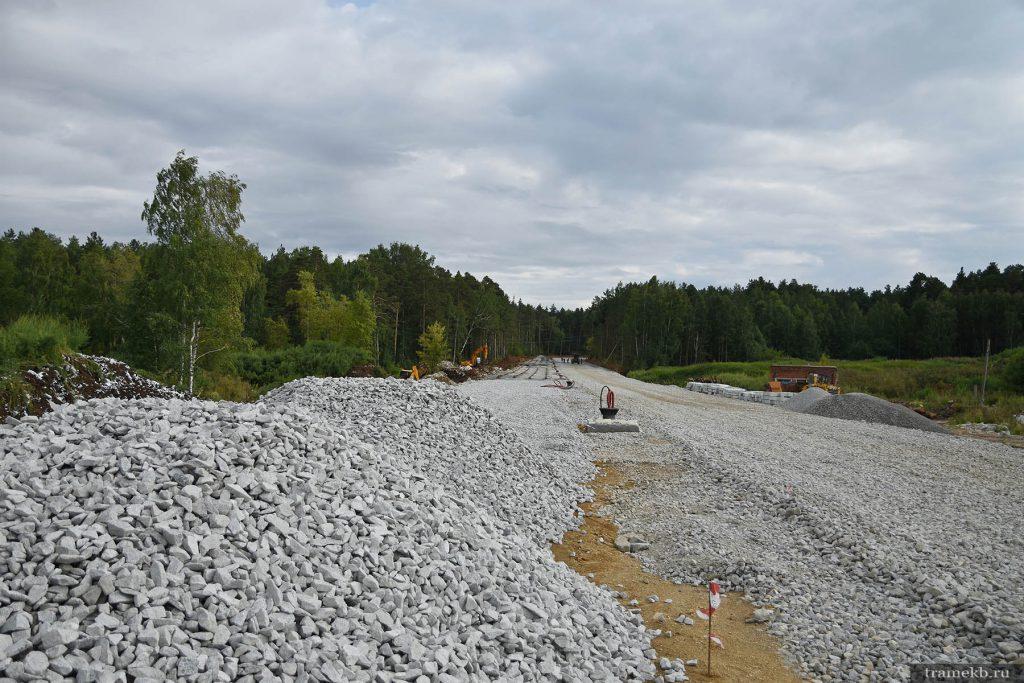 Строительство трамвайной линии в Верхнюю Пышму. На Меридиональной 2 идут работы