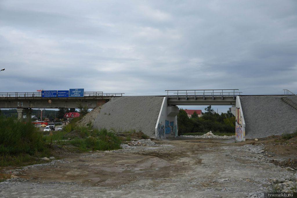 Строительство трамвайной линии в Верхнюю Пышму. Путепровод ж/д ветки на Красное