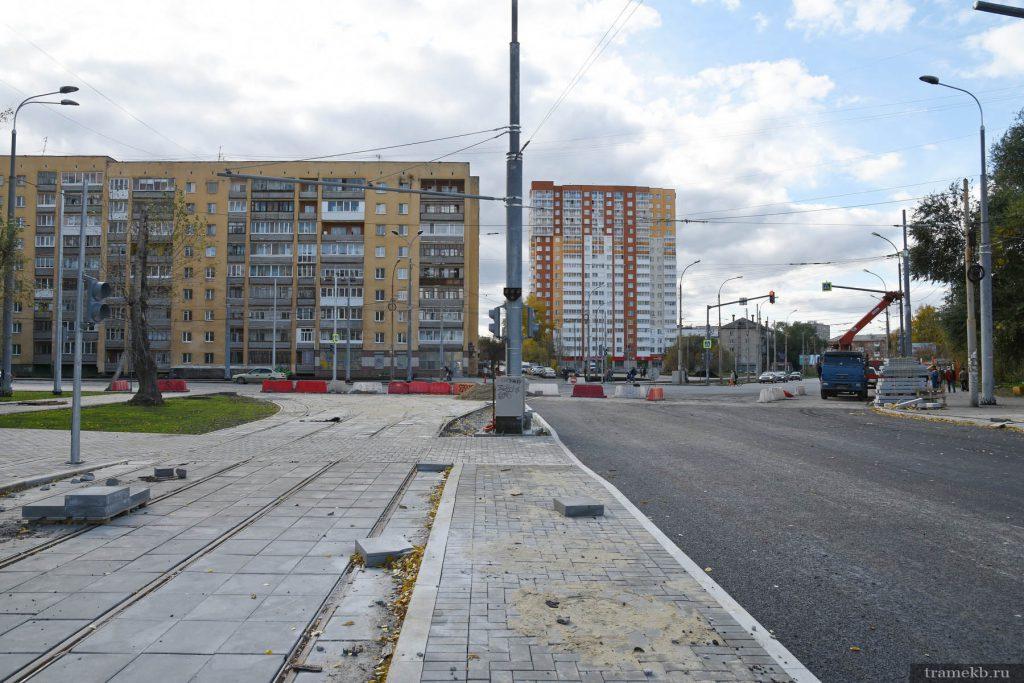Строительство трамвайной линии в Верхнюю Пышму. Узел Старых Большевиков – Фрезеровщиков