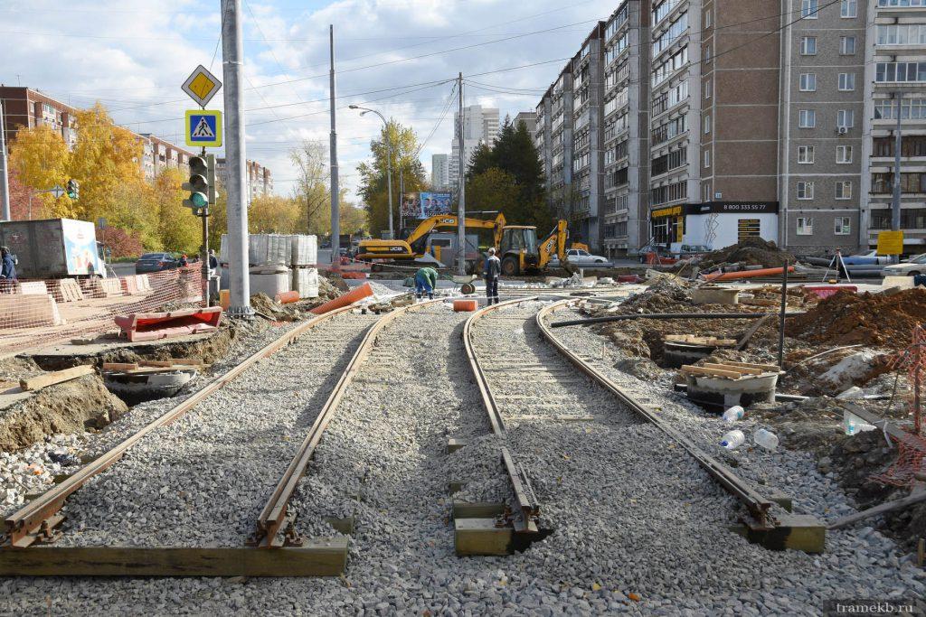 Строительство трамвайной линии в Верхнюю Пышму. Улица Шефская