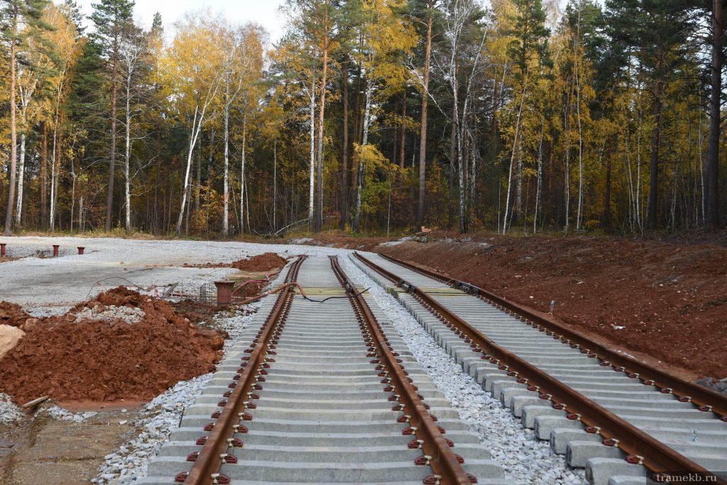 Строительство трамвайной линии в Верхнюю Пышму. Ул. Ново-Садовая