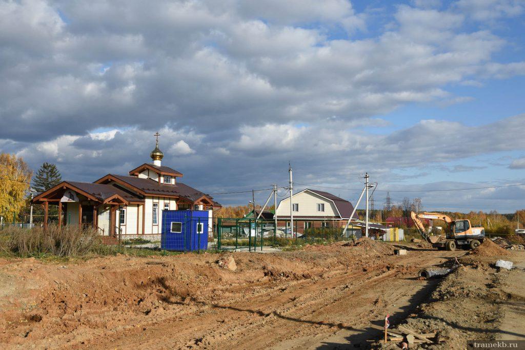 Строительство трамвайной линии в Верхнюю Пышму. Ул. Чуцкаева