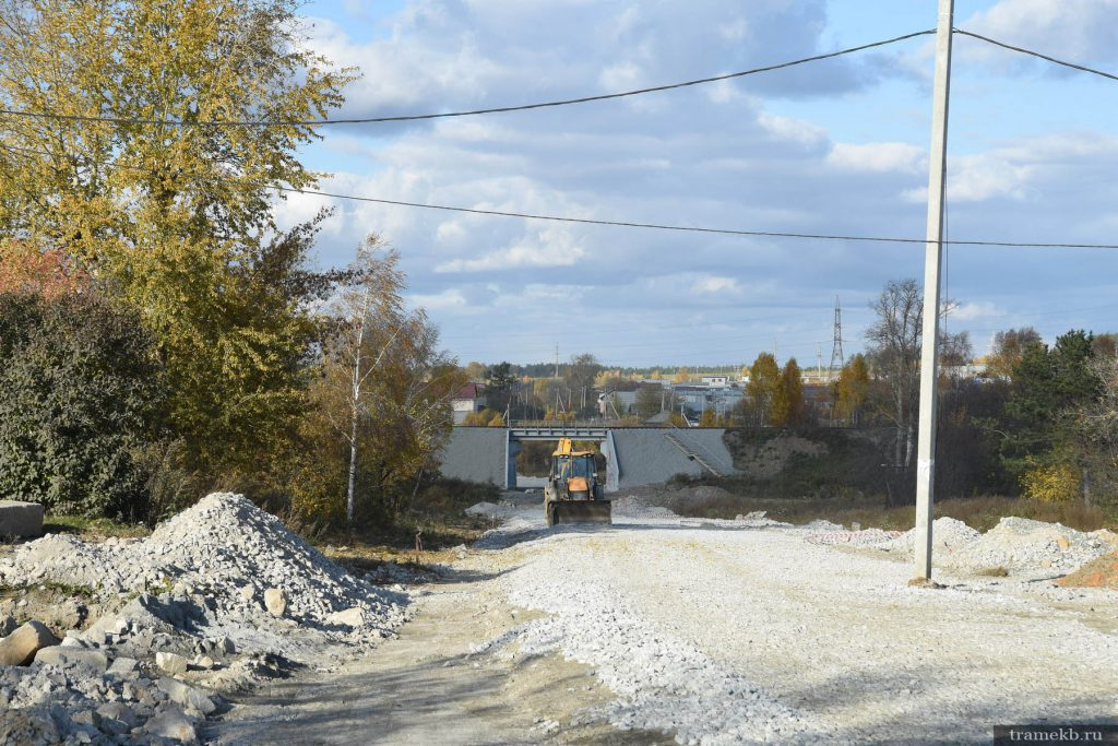 Строительство трамвайной линии в Верхнюю Пышму. Пр. Космонавтов