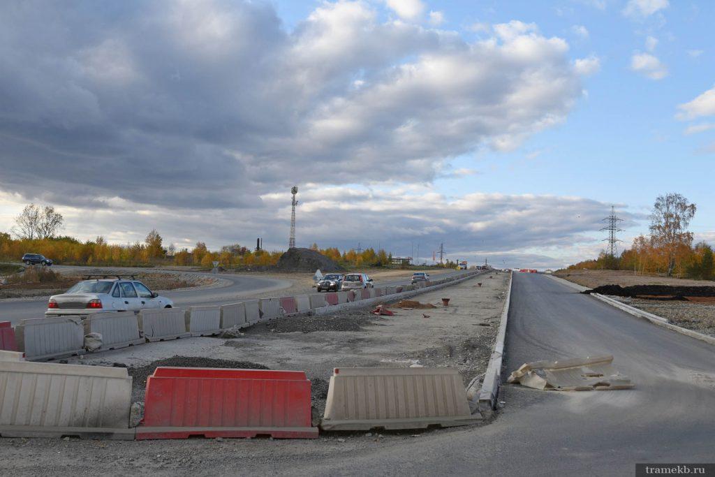 Строительство трамвайной линии в Верхнюю Пышму. Автодорога Екатеринбург – Невьянск