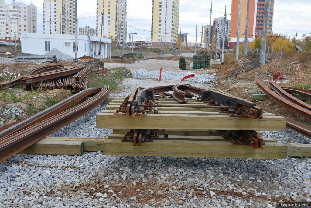 Строительство трамвайной линии в Верхнюю Пышму. Кольцо в В. Пышме