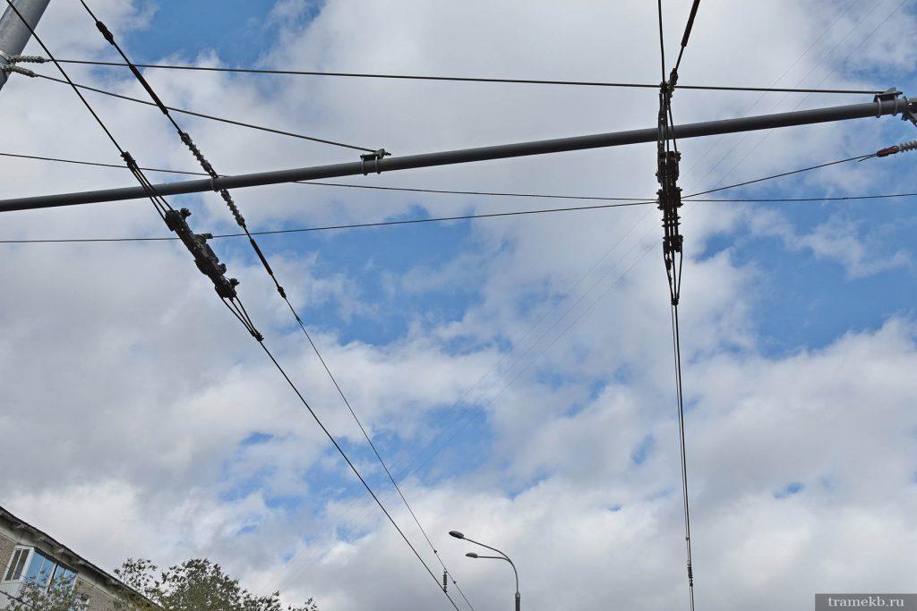 Строительство трамвайной линии в Верхнюю Пышму. Секционный изолятор