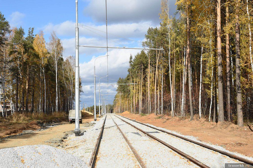 Строительство трамвайной линии в Верхнюю Пышму. Улица с проектным названием Меридиональная 1