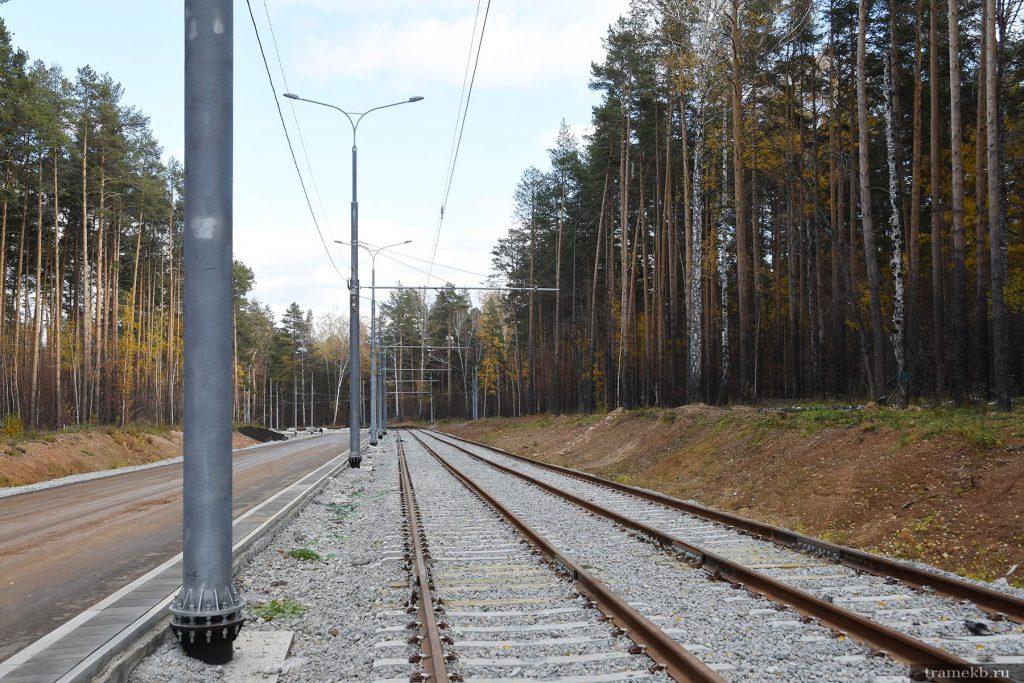 Строительство трамвайной линии в Верхнюю Пышму. Улица с проектным названием Ново-Садовая