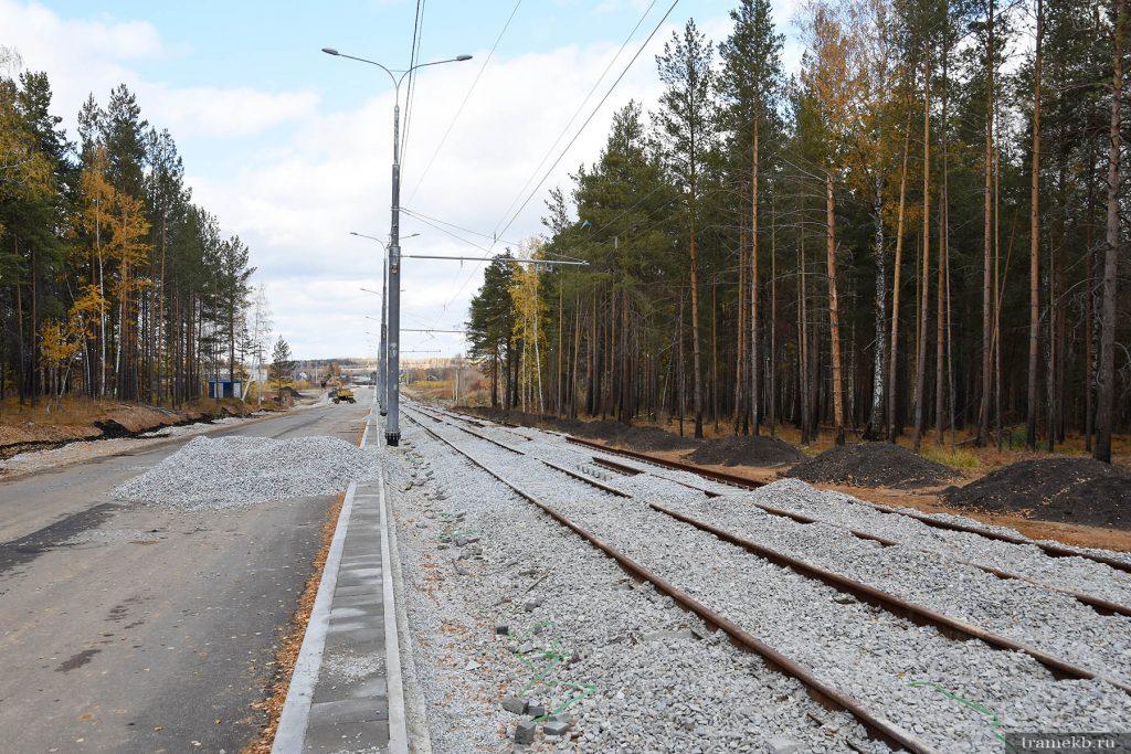 Строительство трамвайной линии в Верхнюю Пышму. Улица с проектным названием Меридиональная 2