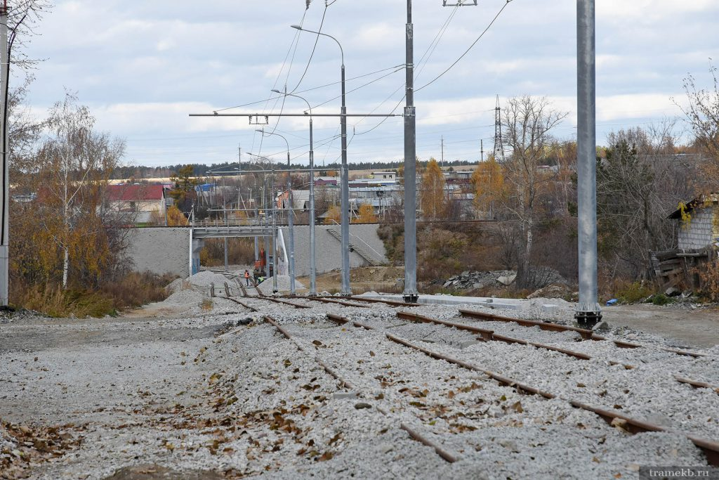 Строительство трамвайной линии в Верхнюю Пышму. Проспект Космонавтов