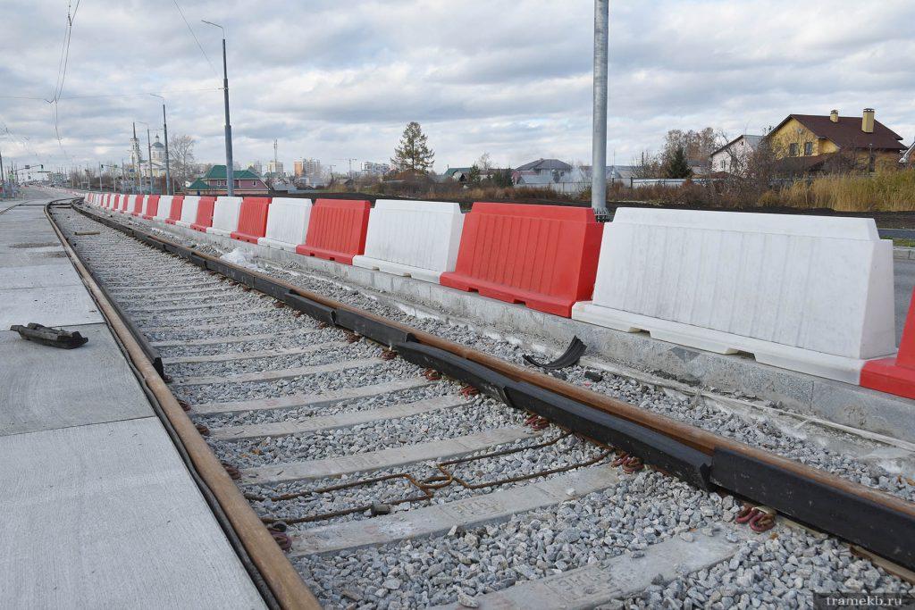 Строительство трамвайной линии в Верхнюю Пышму. Успенский проспект.