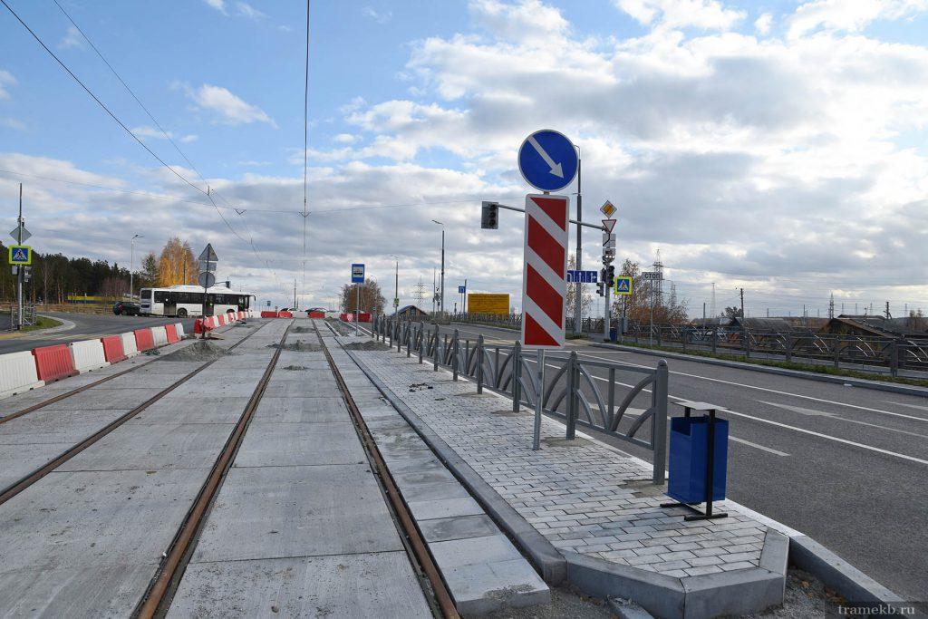 Строительство трамвайной линии в Верхнюю Пышму. Успенский проспект