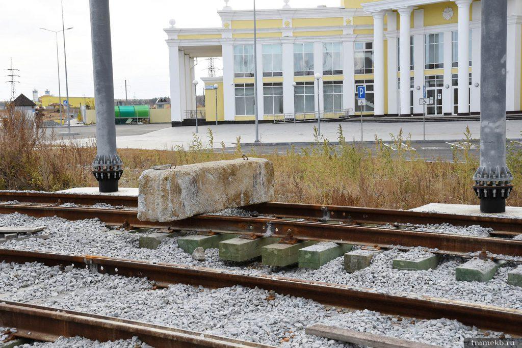Строительство трамвайной линии в Верхнюю Пышму. Участок возле музея УГМК. Инновационные способы укладки пути