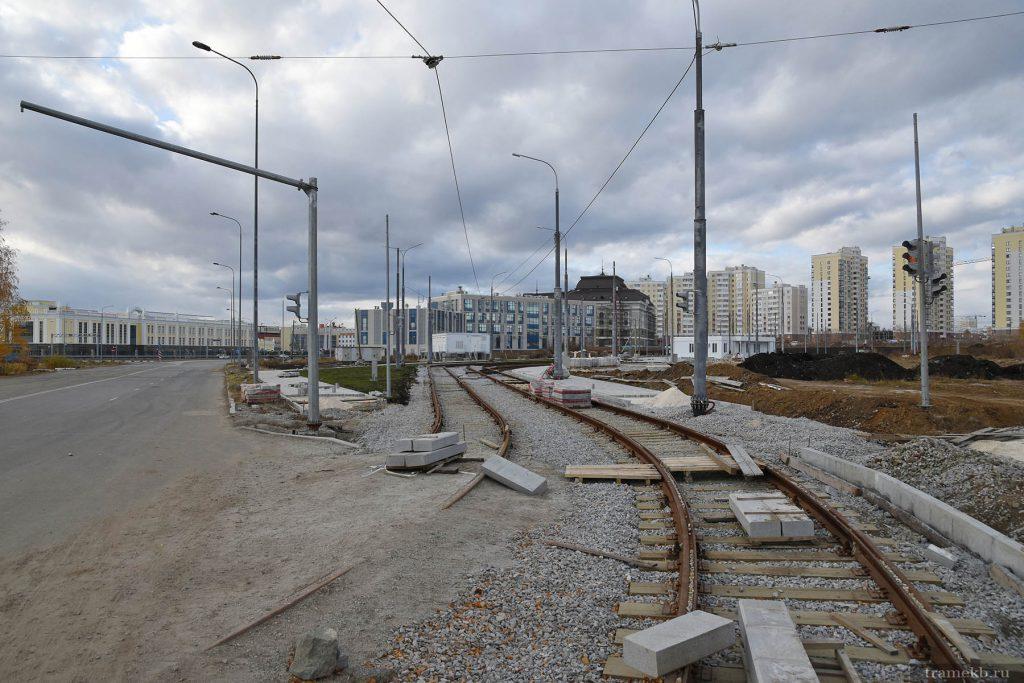 Строительство трамвайной линии в Верхней Пышме