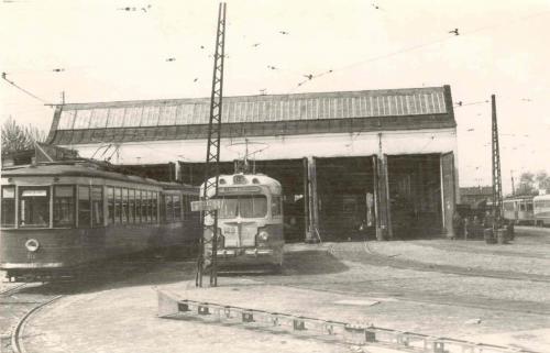 Трамваи серий Х и МТВ-82 в Южном трамвайном депо