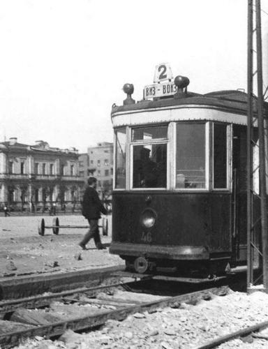 Трамвай серии Х на 2 маршруте